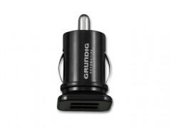 Grundig 46945 Mini Φορτιστής Αυτοκινήτου USB dual 3.1Α Ισχύος 12/24V Ιδανικός και για Συσκευές Apple - Grundig