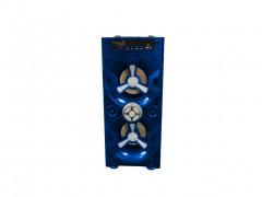 Φορητό Ασύρματο Επαναφορτιζόμενο Ηχείο Bluetooth USB 2x10W με Λειτουργία Ράδιο, QS-31 Χρώμα Μπλε - OEM