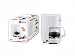 Alpina Switzerland Καφετιέρα Φίλτρου Γαλλικού Καφέ 600W χωρητικότητας 650ml για 4-6 φλιτζάνια σε Λευκό χρώμα, SF-3902 - Alpina Switzerland
