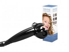Divine Hair Magic Αυτόματο Ηλεκτρικό Σίδερο Μαλλιών για Μπούκλες 25W με περιστρεφόμενο κεραμικό θάλαμο, 3 ρυθμίσεις θερμοκρασίας σε Μαύρο χρώμα, V0100100 - Divine