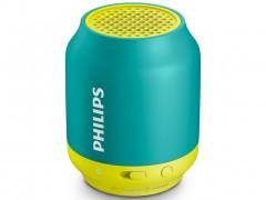 Philips Φορητό Ηχείο Bluetooth με Επαναφορτιζόμενη Μπαταρία 6 ωρών, Υποδοχή AUX σε Πράσινο/κίτρινο χρώμα, BT50A - Philips
