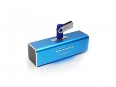 MusicMan MA Φορητό Ηχείο Ασύρματο Στερεοφωνικό σύστημα MP3-MP4 Player 6W με extra λειτουργίες,3429 Μπλέ Μπλε - MusicMan