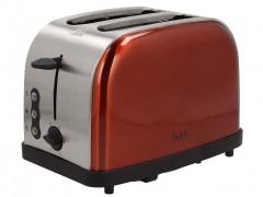 Botti Vinci Tοστιέρα Φρυγανιέρα 900W 2 θέσεων για Τοστ και 6 Επίπεδα Θέρμανσης 25x16x18cm σε Copper Χρώμα, YK-623 - Botti