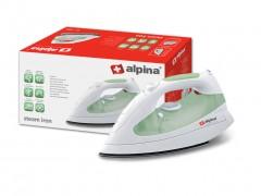 Alpina Switzerland Ηλεκτρικό Σίδερο Ατμού Μεγάλης Ισχύος 1800W και Δεξαμενή νερού 300ml με Λειτουργία Anti-Calc σε Πράσινο χρώμα, SF-1301 - Alpina Switzerland