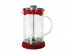 Cuisine Elegance Χειροκίνητη Καφετιέρα Φίλτρου για Γαλλικό Καφέ και Τσάι 800ml από Ανοξείδωτο ατσάλι με Λαβή, 98282 Κόκκινο - Cuisine Elegance
