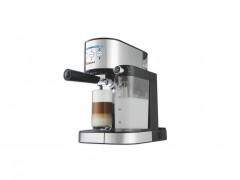 Alpina Switzerland Καφετιέρα Μηχανή Espresso 1470 Watt με Δεξαμενή και Μεταλλικό Ακροφύσιο ατμού για τη δημιουργία Αφρόγαλου σε inox-μαύρο, SF-2812 - Alpina Switzerland