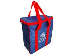Φορητή Ισοθερμική Τσάντα Ψυγείο από Πολυεστέρα με 2 Λουρία σε μπλε χρώμα με κόκκινες λεπτομέρειες, 17Lt, 30x16x34cm, Cooler Bag, Golden Days Gee! Set Sail! - Cb