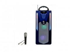 Φορητό Ασύρματο Ηχείο Bluetooth Τηλεχειριστήριο σε Μπλε Χρώμα, MK-702 - Cb