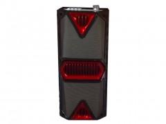Φορητό Ασύρματο Επαναφορτιζόμενο Ηχείο Bluetooth USB TF AUX 2x10W με LED, Λειτουργία Ραδιόφωνο FM και Καραόκε Karaoke , JBK-8812 - Cb