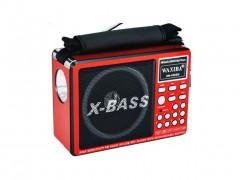Επαναφορτιζόμενο Ραδιόφωνο - Multimedia Player Speaker 1.5W - Φακός LED - WAXIBA XB-1022U - OEM