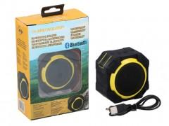 Αδιάβροχο ασύρματο Ηχειο Bluetooth με σύνδεση Usb υποδοχή για ακουστικά και θήκη Σιλικόνης, Dunlop Κίτρινο - Dunlop
