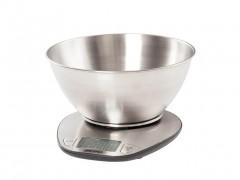 Mesko Ψηφιακή Ζυγαριά Κουζίνας Ακριβείας έως 5Kg με αυτόματο μηδενισμό και αποσπώμενο μπολ Inox - Mesko