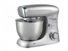 Dekoch Κουζινομηχανή Μίξερ 1300W με Κάδο 6.5L και επιπλέον Αξεσουάρ σε Ασημί χρώμα, DK-KM651 - Dekoch