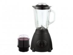 Dekoch Μπλέντερ Μίξερ 500W από Ανοξείδωτο Ατσάλι με Γυάλινο Δοχείο 1.5L και Μύλο για άλεσμα καφέ σε Μαύρο χρώμα DK-BM150 BLK - Dekoch