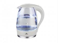 Γυάλινος Ηλεκτρικός Βραστήρας Νερού 2200W 1.7Lt με LED φωτισμό σε Λευκό χρώμα, Lentz - Lentz