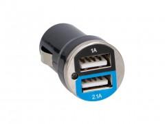 All Ride Φορτιστής Αυτοκινήτου με 2 θύρες USB, 12-24V, Max 2.1A, διαστάσεις 6x2.5x2.5 εκατοστά - All ride