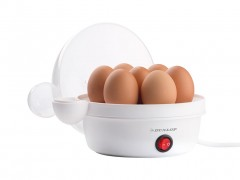 Dunlop Βραστήρας Αυγών με θήκες για 7 αυγά, με ισχύ 360W, διαστάσεις 16x16x175 εκατοστά - Dunlop