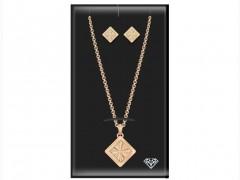 Σετ Κοσμημάτων Κολιέ με Σκουλαρίκια σε Roze Gold χρώμα, Pierre Cardin, Diamond Collection, PCDXX8024 - Pierre Cardin