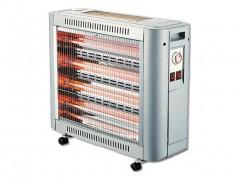Ηλεκτρική Θερμάστρα Σόμπα Χαλαζία 2000W με θερμοστάτη, 65x22x50 cm - Aria Trade