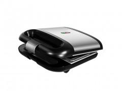 Διπλή Τοστιέρα Σαντουιτσιέρα 750W σε μαύρο ασημί χρώμα, Cecotec Rock 'n Toast - Cecotec
