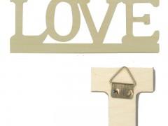 Next - Ξύλινη επιγραφή love 40x16εκ. με γαντζάκια - - - - 24727------2