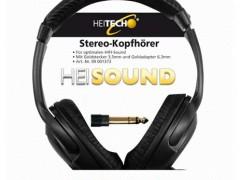 Ακουστικά Στερεοφωνικά με Καλώδιο 5m 3.5mm Heitech 09001373 Μαύρα