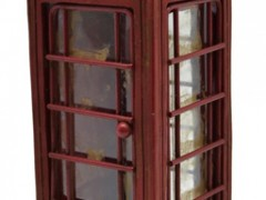 Διακοσμητικός Τηλεφωνικός Θάλαμος Πολυεστερικό 6,5x6,5x17cm (774739)