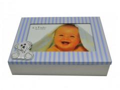 Κουτάκι Ξύλινο με Φωτογραφοθήκη BM-AT63-4 Γαλάζιο