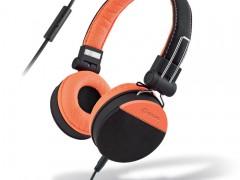Ακουστικά Stereo με Μικρόφωνο 3.5mm Meliconi Mysound Speak Style Black/Orange