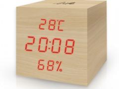 Ψηφιακό Θερμόμετρο/Υγρόμετρο με Ρολόι Life WES-105 Ξύλινο