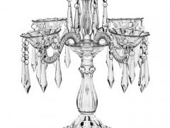 Κηροπήγιο 3 Θέσεων Bohemia Crystal 94413/420