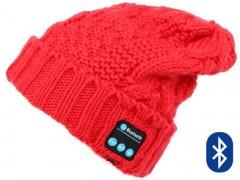 Σκούφος Diamonds με Bluetooth Ενσωματωμένα Ακουστικά & Μικρόφωνο Κόκκινος (HAT-004)