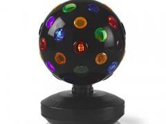 Πολύχρωμη Περιστρεφόμενη Disco Ball 19cm με Βάση Nedis FUDI213BK