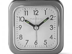 Επιτραπέζιο Αναλογικό Ρολόι-Ξυπνητήρι Nedis CLDK005GY
