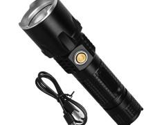 Φορητός Φακός CREE LED XM-L2 10 Watt Επαναφορτιζόμενος με Μπαταρίες GloboStar 07036