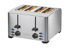 Ανοξείδωτη Αυτόματη Φρυγανιέρα 4 Θέσεων 1500w Profi Cook PC-TA1073