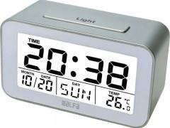 Ρολόι Επιτραπέζιο Ψηφιακό με Ένδειξη Θερμοκρασίας Silver-Λευκό Alfaone 600113