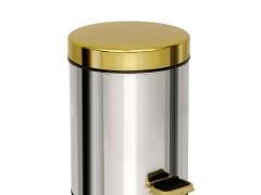 Κάδος Απορριμμάτων (18x25) PamCo 3Lit 602 Chrome/Gold