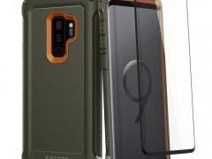 Spigen Θήκη Pro Guard Samsung Galaxy S9 Plus 360° Full Coverage - Army Green & Tempered Glass (593CS22984)