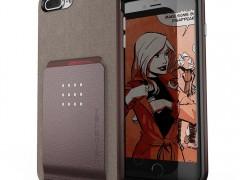 Ghostek Exec 2 - Θήκη με Μεταλλική Πλάκα για iPhone 8 Plus / 7 Plus - Brown (CA-GHOCAS748-00)