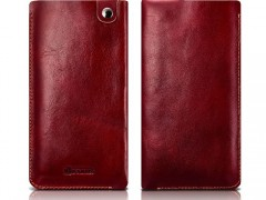 iCarer Universal Δερμάτινη Θήκη Πουγκί (έως 4.7 ίντσες) - Red (91093-1)