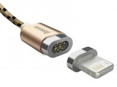 Baseus Insnap Series Quick Charge 2.4A Μαγνητικό Καλώδιο Φόρτισης/Μεταφοράς Δεδομένων USB to Lightning 100cm - Gold (10941)
