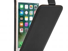 Caseflex Δερμάτινη Flip Θήκη iPhone 8 / 7- Black (AP-GA03-Z285)