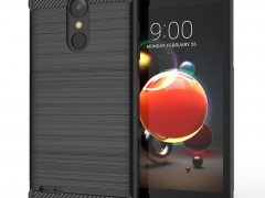 Caseflex Θήκη Σιλικόνης Carbon Fibre Effect LG K9 / K8 2018 - Black (CS000010LG)