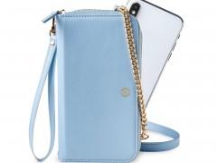 Celly Venere Θήκη - Πορτοφόλι για Smartphones έως 6.5'' - Light Blue (VENERELB)