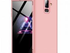 GKK Θήκη Hybrid Full Body 360° Samsung Galaxy A6 Plus 2018 - Rose Gold (44490)