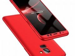 GKK Θήκη Hybrid Full Body 360° Samsung Galaxy A8 2018 - Red (45176)