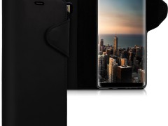 Kalibri Δερμάτινη Suede Θήκη - Πορτοφόλι Samsung Galaxy Note 8 - Black (42844.01)