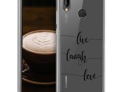 KW Θήκη Σιλικόνης Huawei P20 Lite - Live Laugh Love (44373.09)