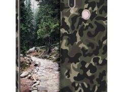 KW Σκληρή θήκη - Huawei P20 Lite - Dark Green / Dark Brown / Beige (44780.08)